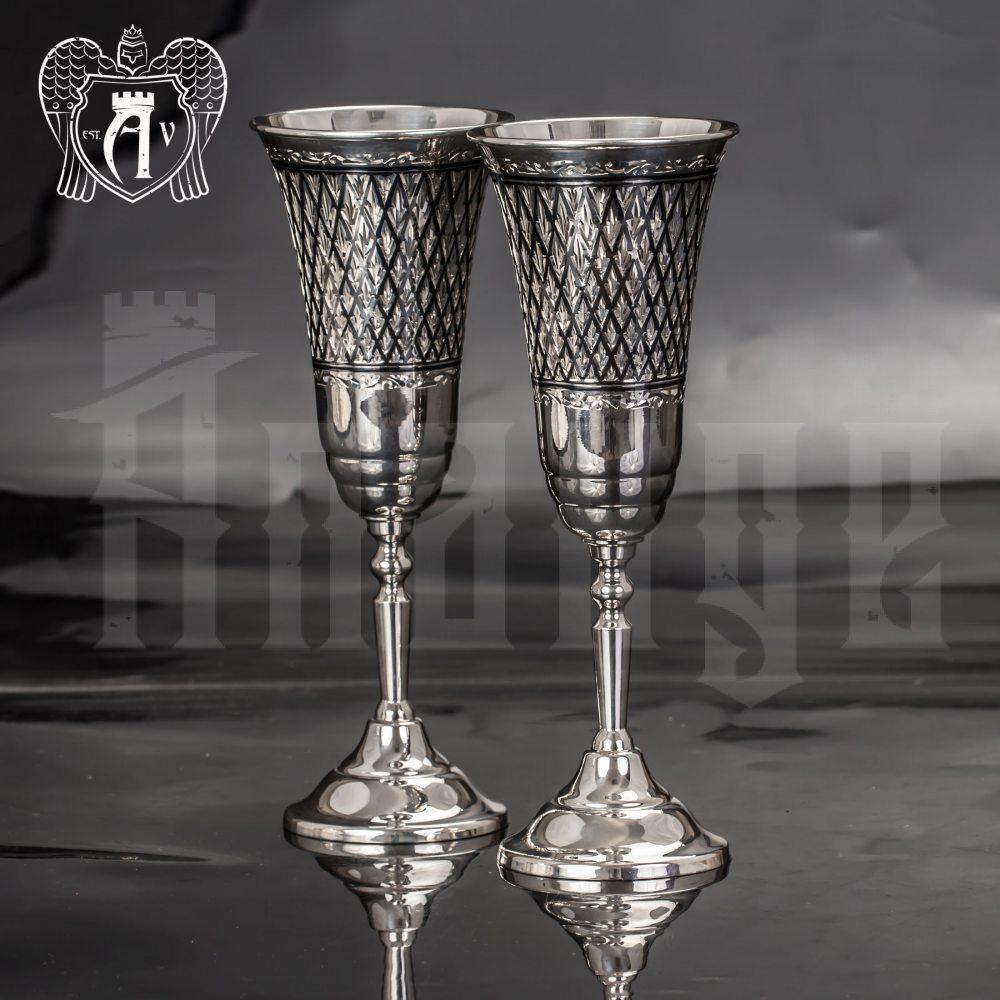 Бокалы из серебра «Княжеские» 2 шт Апанде, 3800403-26