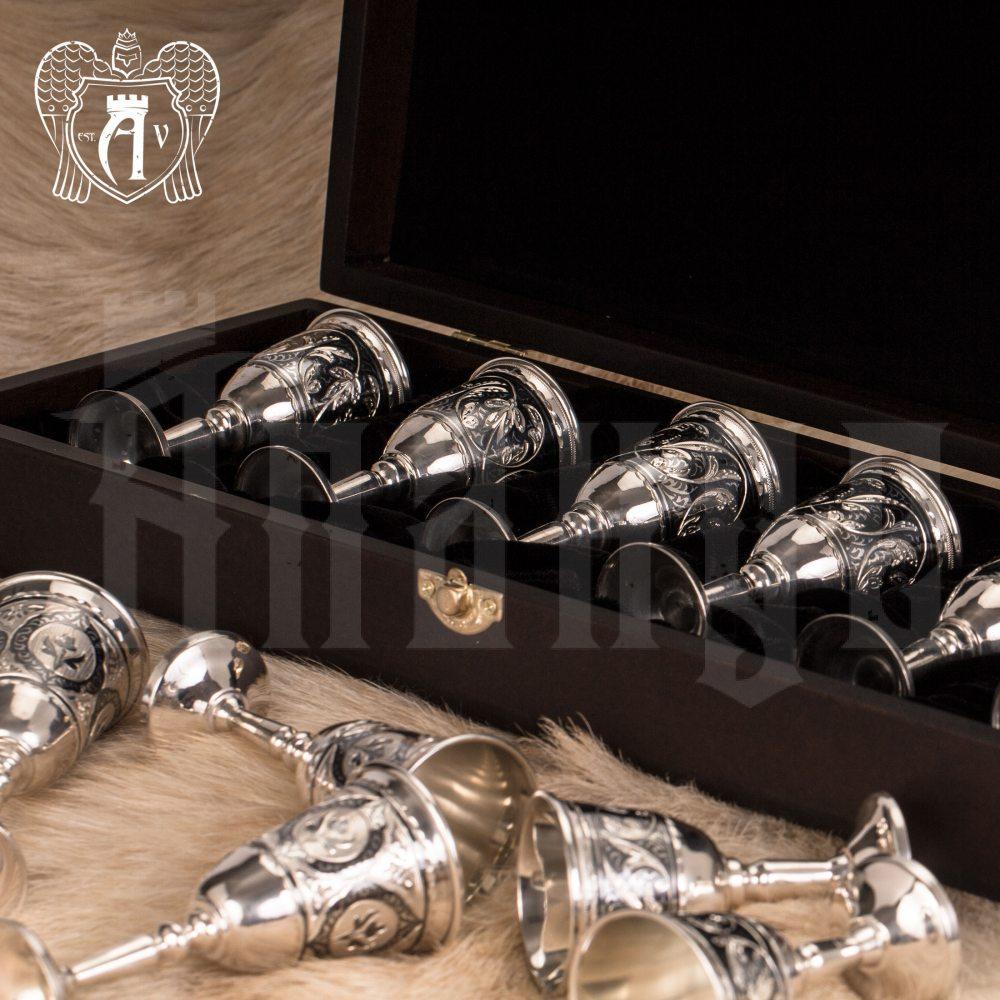 Набор рюмок из серебра  «Бодрум» Апанде, 75000194