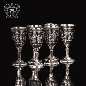 Набор рюмок из серебра  «Бодрум»