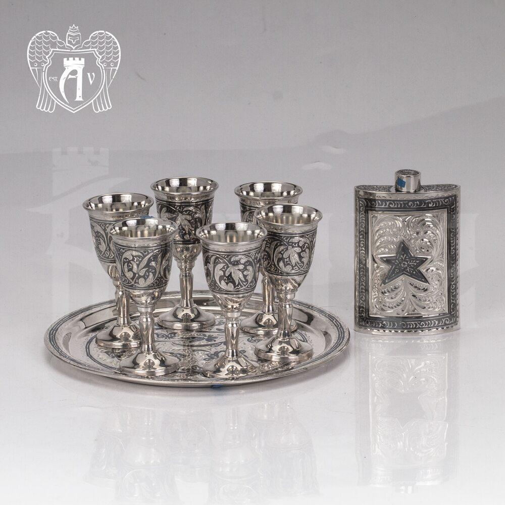 Серебряный  набор для водки и коньяка « Отчизна»  Апанде, 111005459