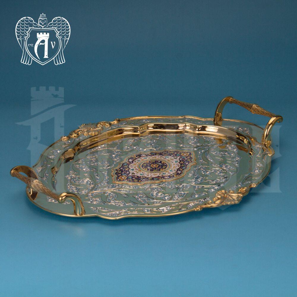 Серебряный сервиз чайный  с горячей эмалью  «Вальмонт»  Апанде, 111049249