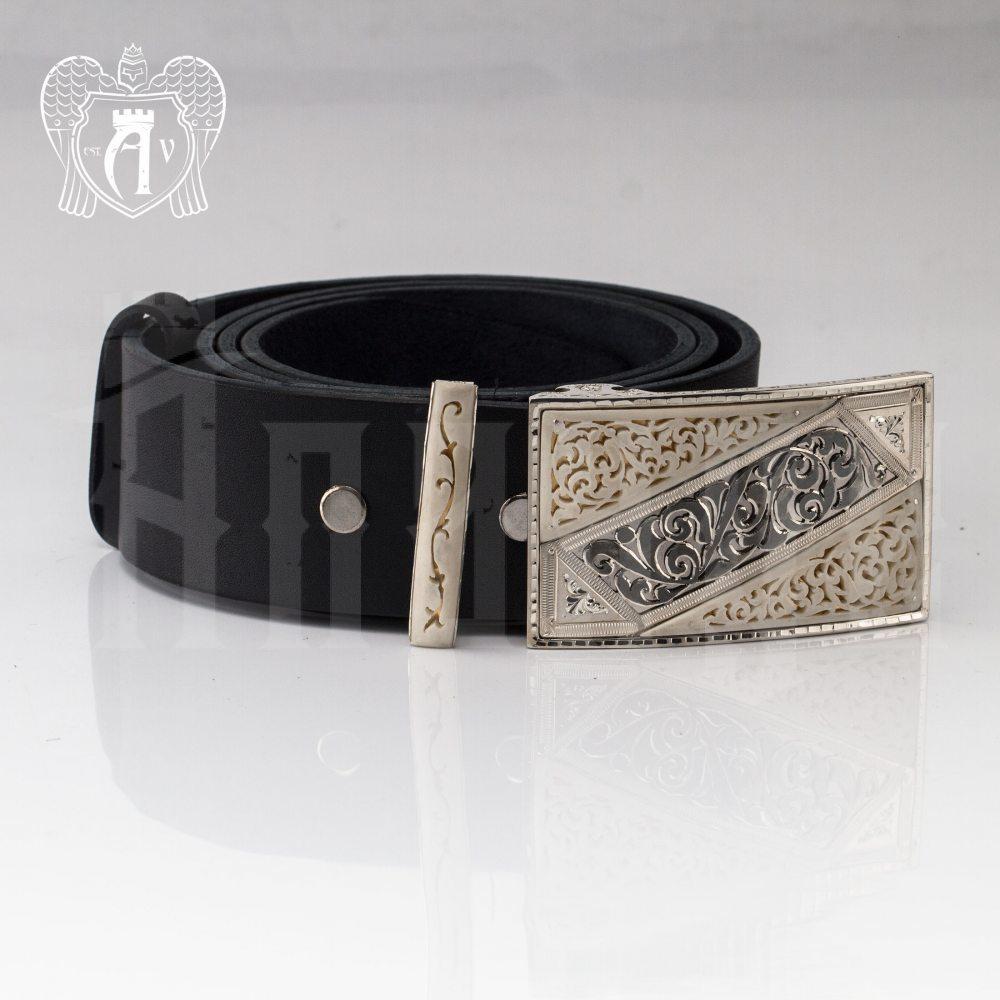 Ремень из серебра  «Амбассадор» Апанде, 88800141