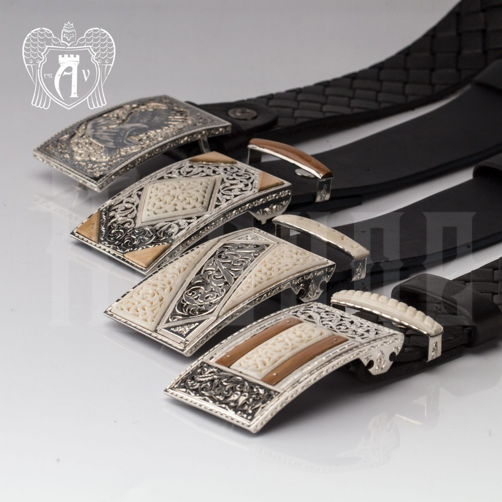Ремень из серебра  «Гарольд» Апанде, 88800142
