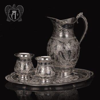 Сервиз для напитков из серебра  «Жизель»