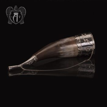 Рог для вина серебряный «Люкс»