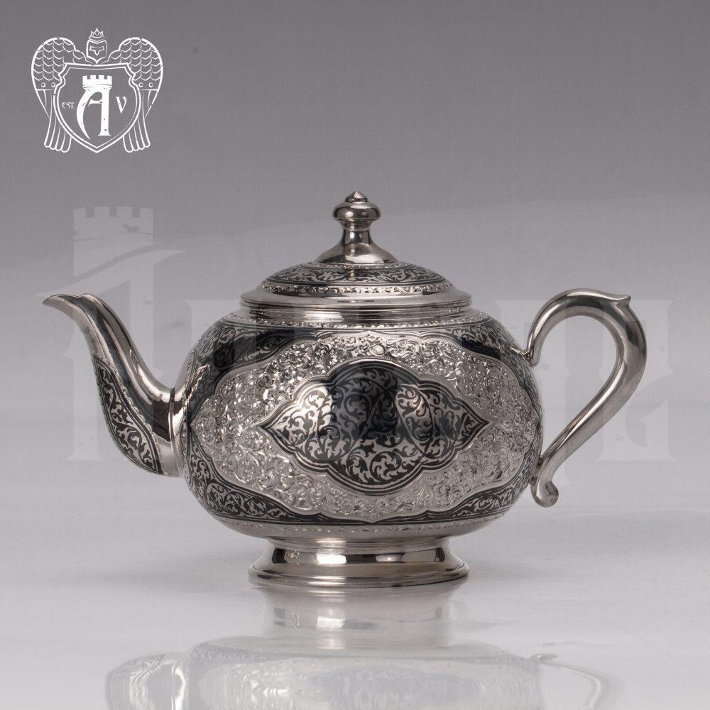 Серебряный чайник «Кармен» Апанде, 2500015