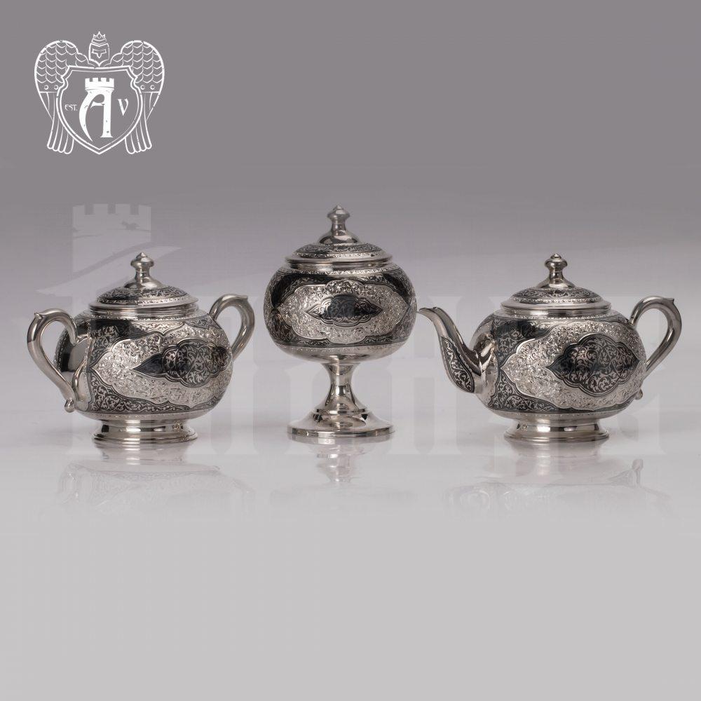 Серебряная сахарница  серия «Кармен» Апанде, 350003139