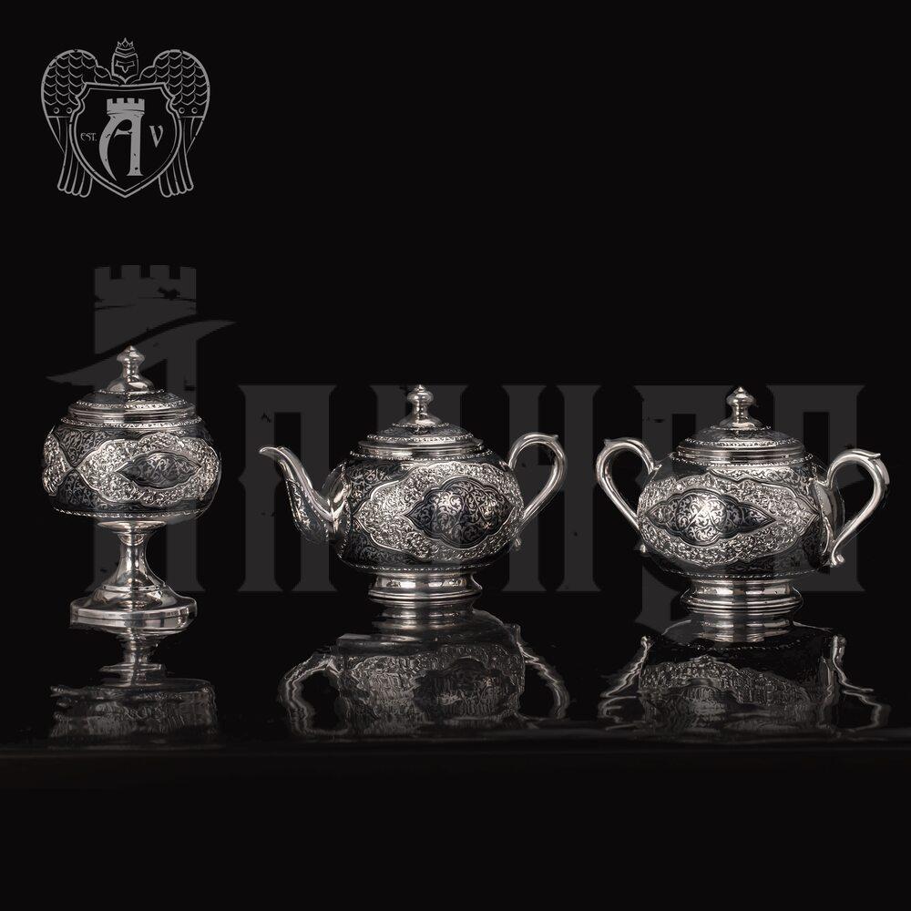 Набор чайный серебряный «Кармен» Апанде, 1110013535