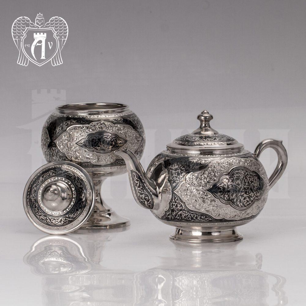 Вареньица серебряная с крышкой «Кармен» Апанде, 340003