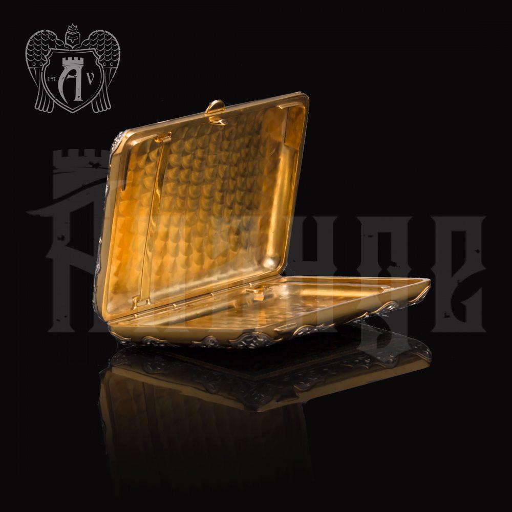 Серебряный портсигар с эмалью «Барон» Апанде, 53000196