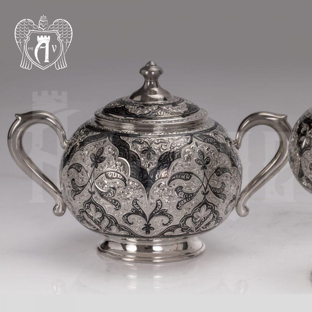 Набор чайный серебряный «Глория» Апанде, 1110013536