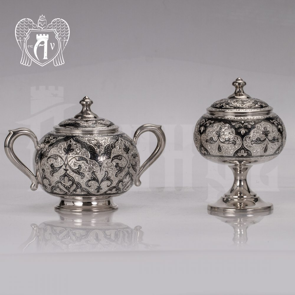 Вареньица серебряная с крышкой «Глория» Апанде, 340005