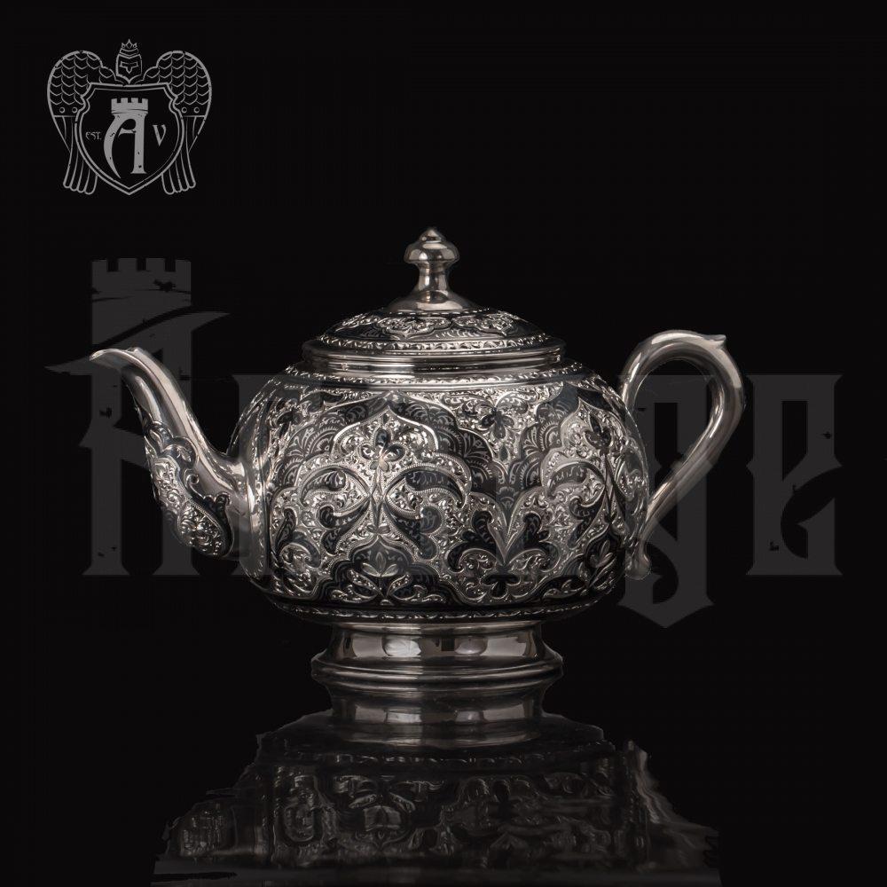 Серебряный чайник «Глория» Апанде, 2500013