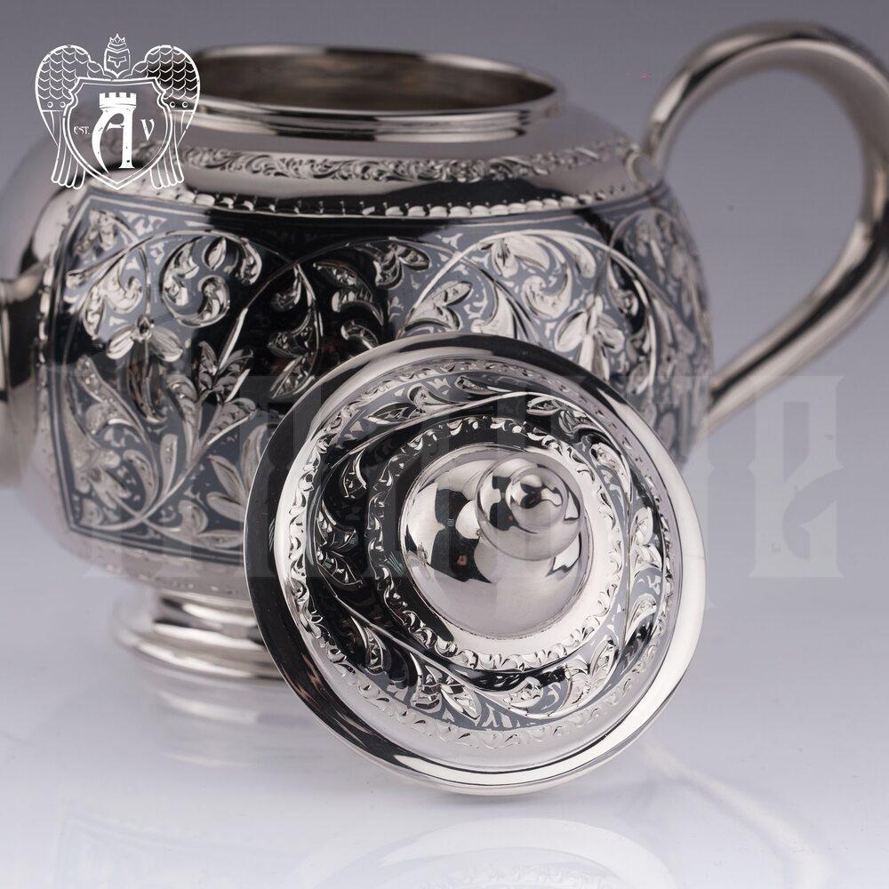 Серебряный чайник «Клио» Апанде, 2500013