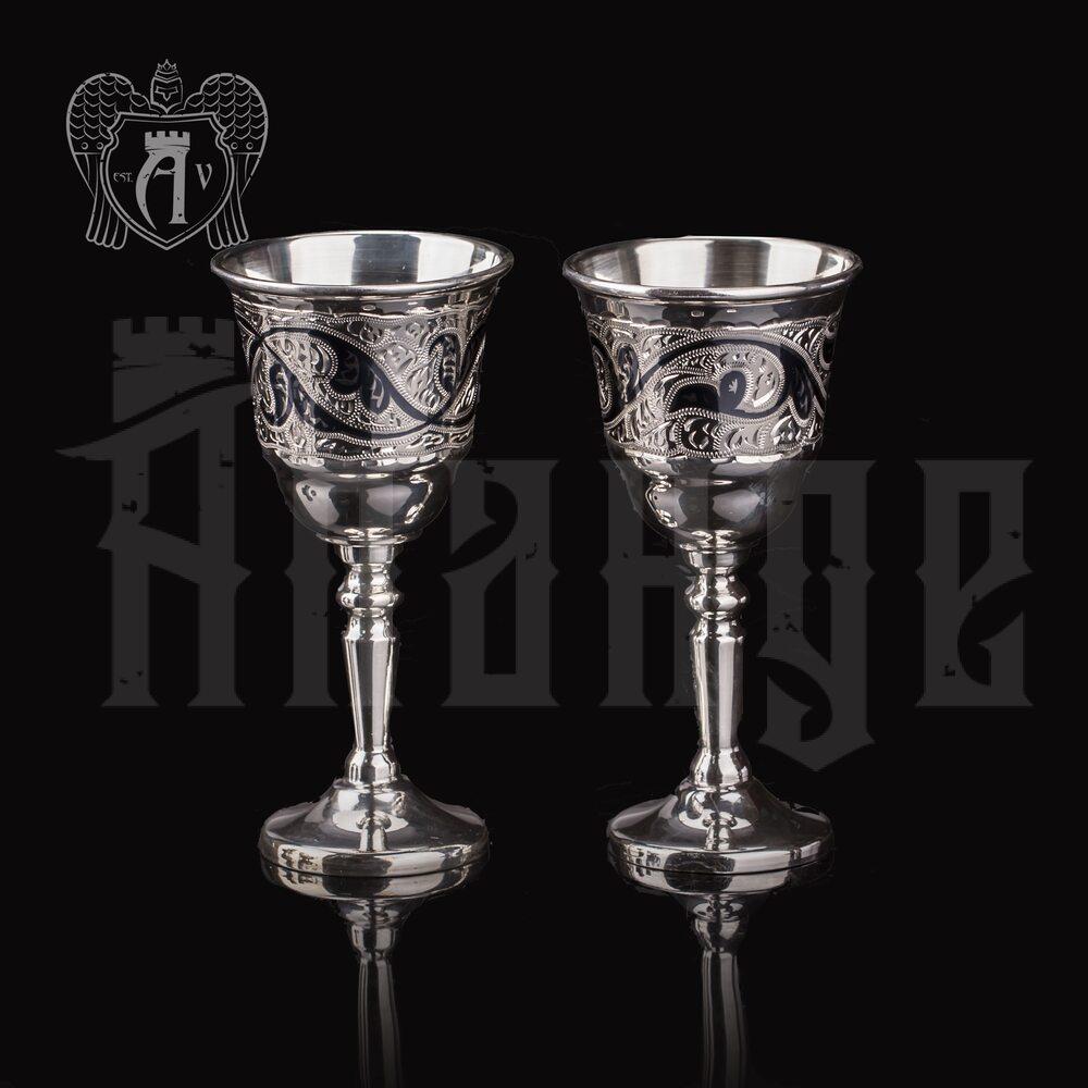 Набор серебряных рюмок  «Лоза»2 шт  Апанде, 7500012