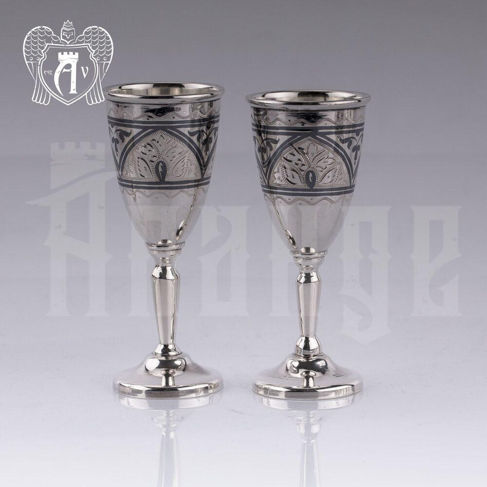 Набор серебряных рюмок  «Крона» 2 шт Апанде, 7500010