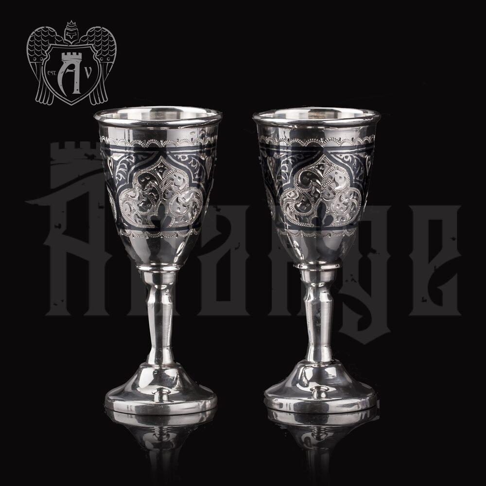 Набор рюмок из серебра  «Клод» 2 шт Апанде, 750006