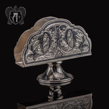Серебряная салфетница «Вьюн»