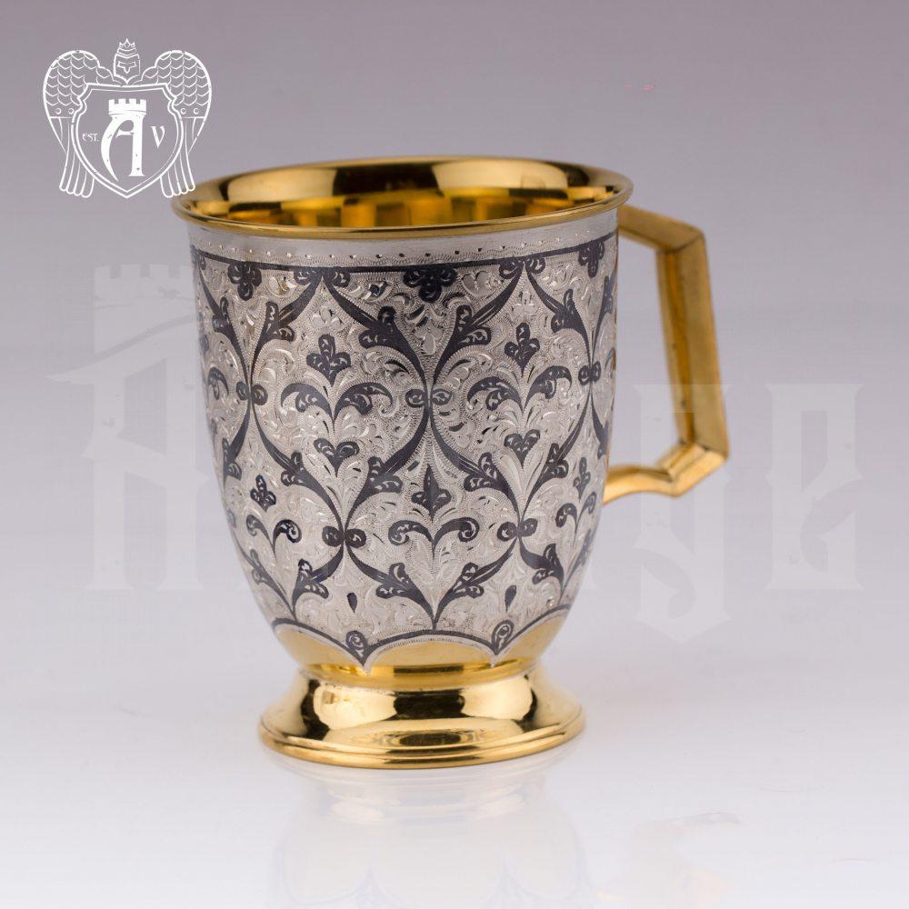 """Кружка из серебра """"Персия"""" с золочением Апанде, 32009140"""