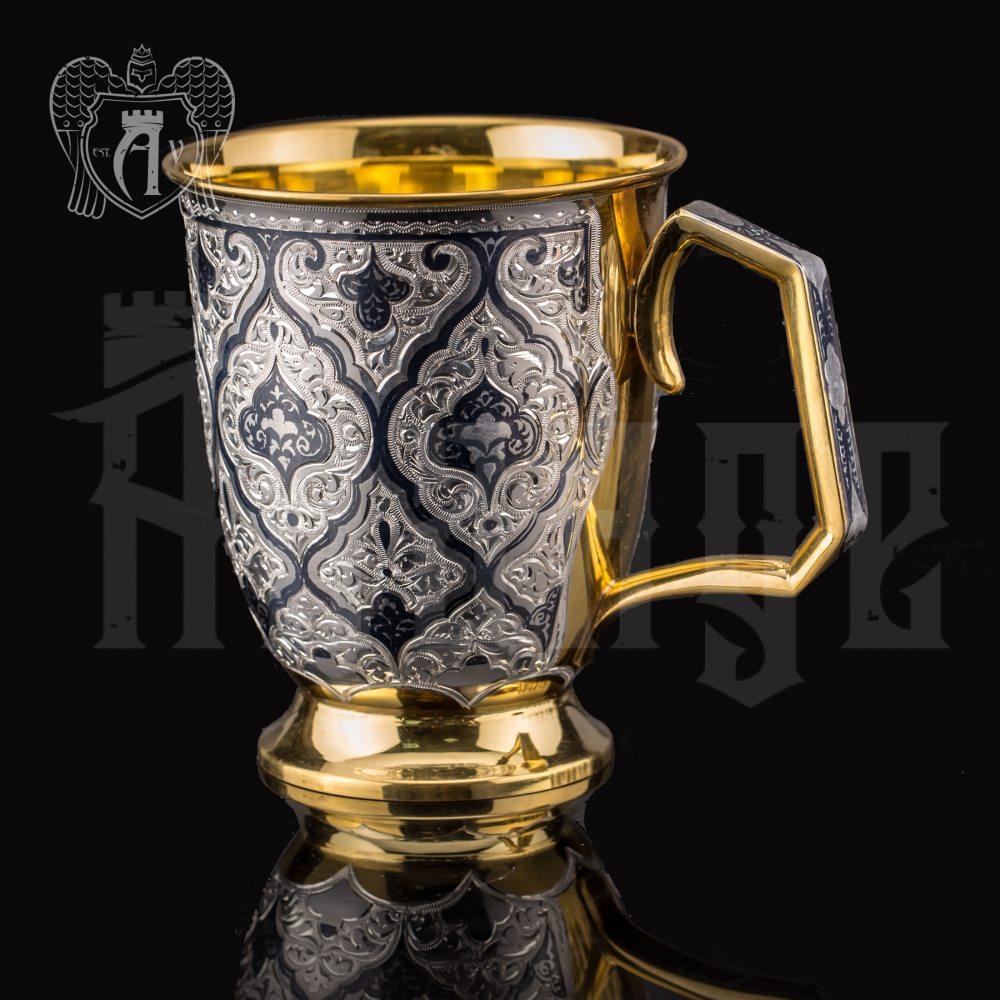 """Кружка из серебра """"Парис"""" с золочением Апанде, 32009140"""