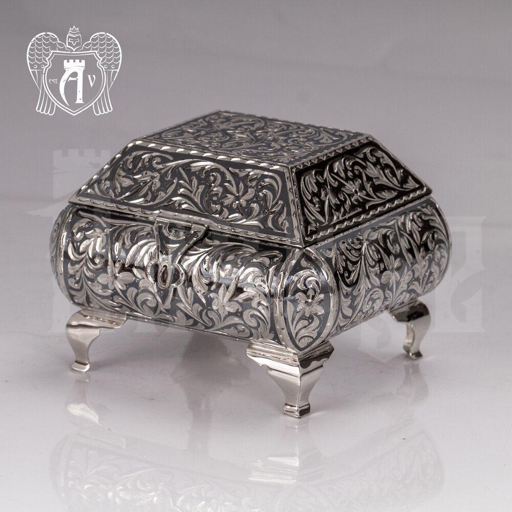 Серебряная шкатулка ручной работы «Далида»   Апанде, 84000420