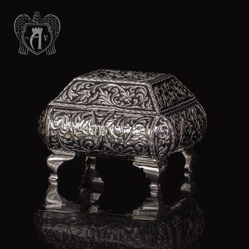 Серебряная шкатулка ручной работы «Далида»