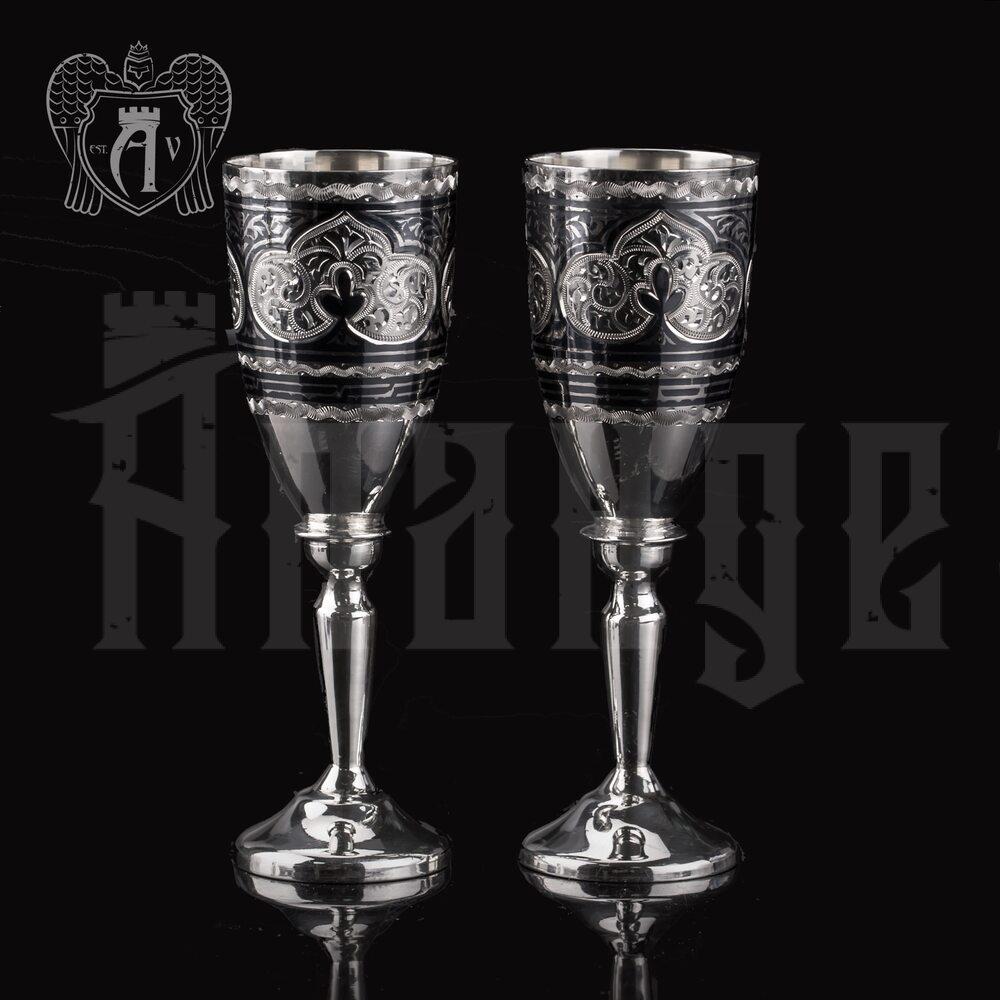 Набор рюмок из серебра  «Застолье» 2 шт Апанде, 750009