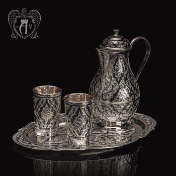 Сервиз из серебра 925 пробы  «Шамхан» для воды и напитков