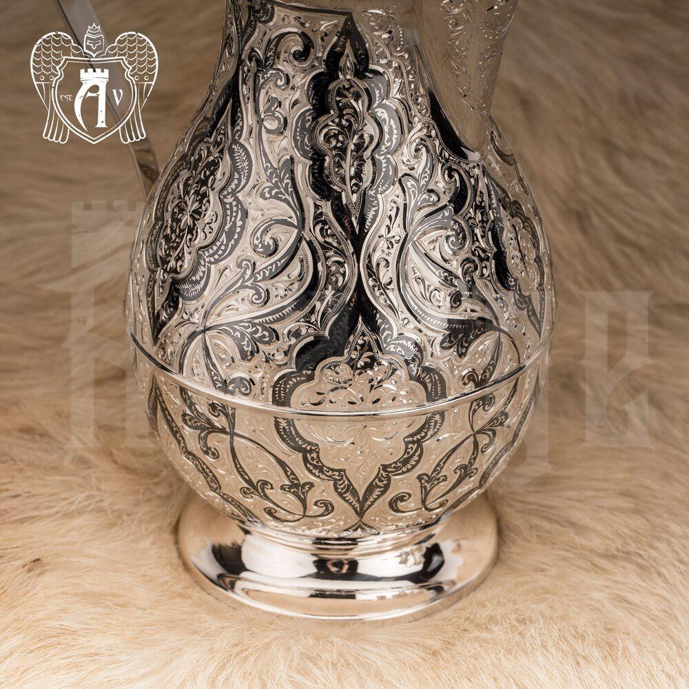 Сервиз серебряный  «Шамхан» для воды и напитков Апанде