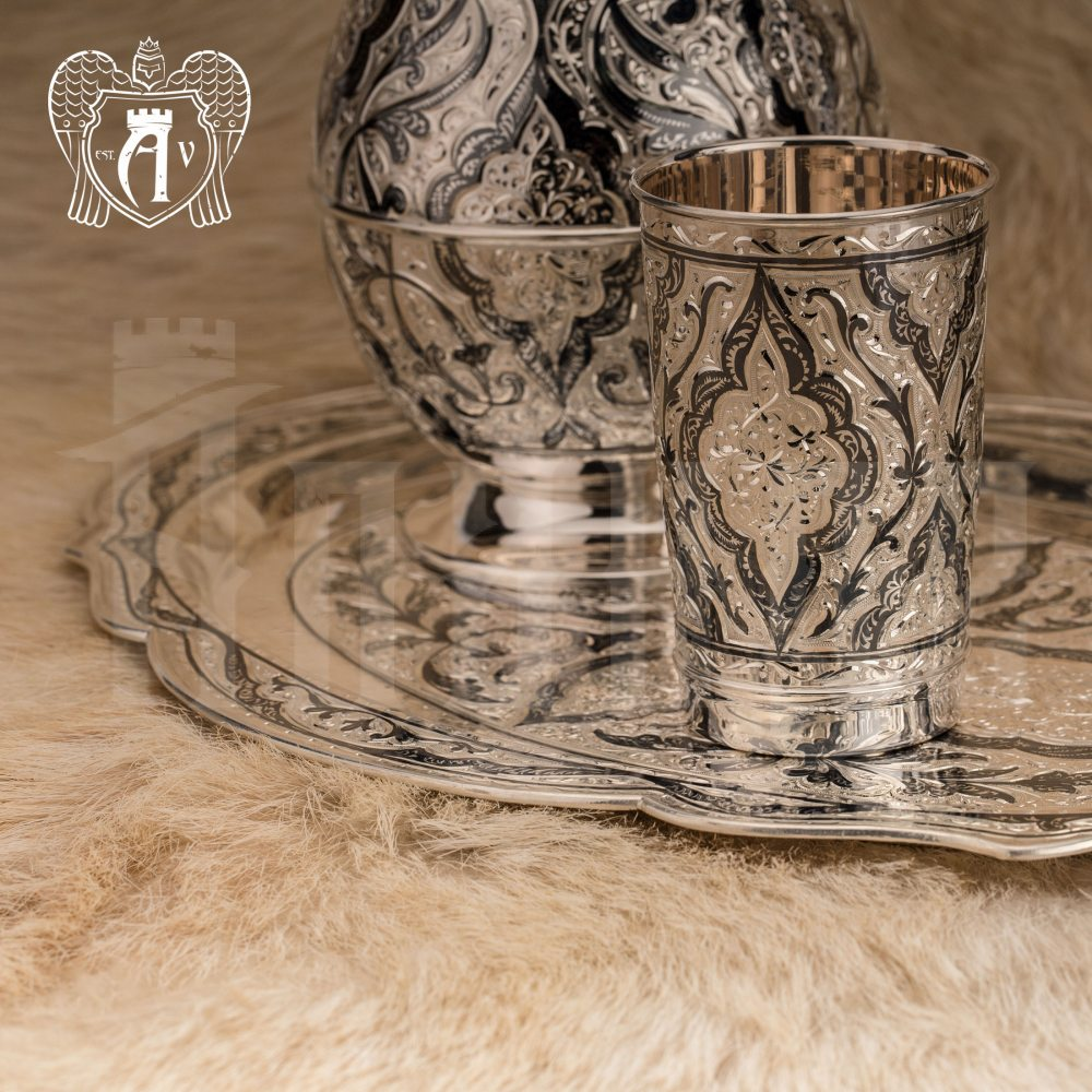 Сервиз из серебра 925 пробы  «Шамхан» для воды и напитков  Апанде,