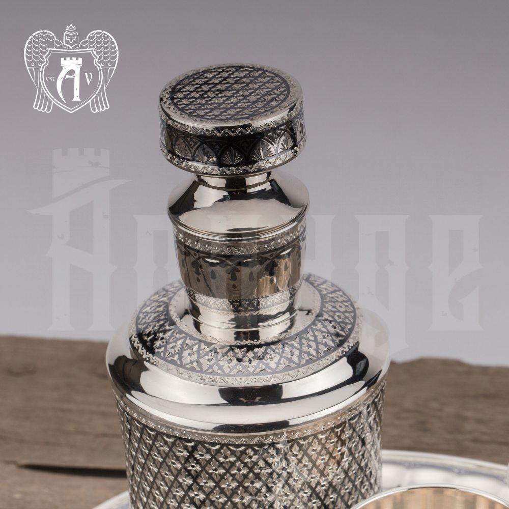 Серебряный сервиз для виски «Княжеский»  Апанде, 11100555