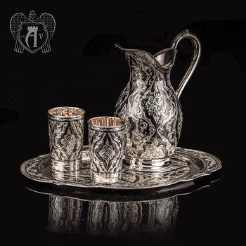 Сервиз из серебра 925 пробы  «Кармен» для воды и напитков