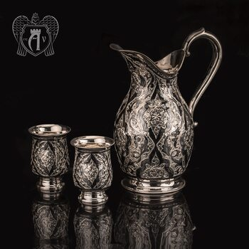 Сервиз из серебра «Камелия» для воды и напитков
