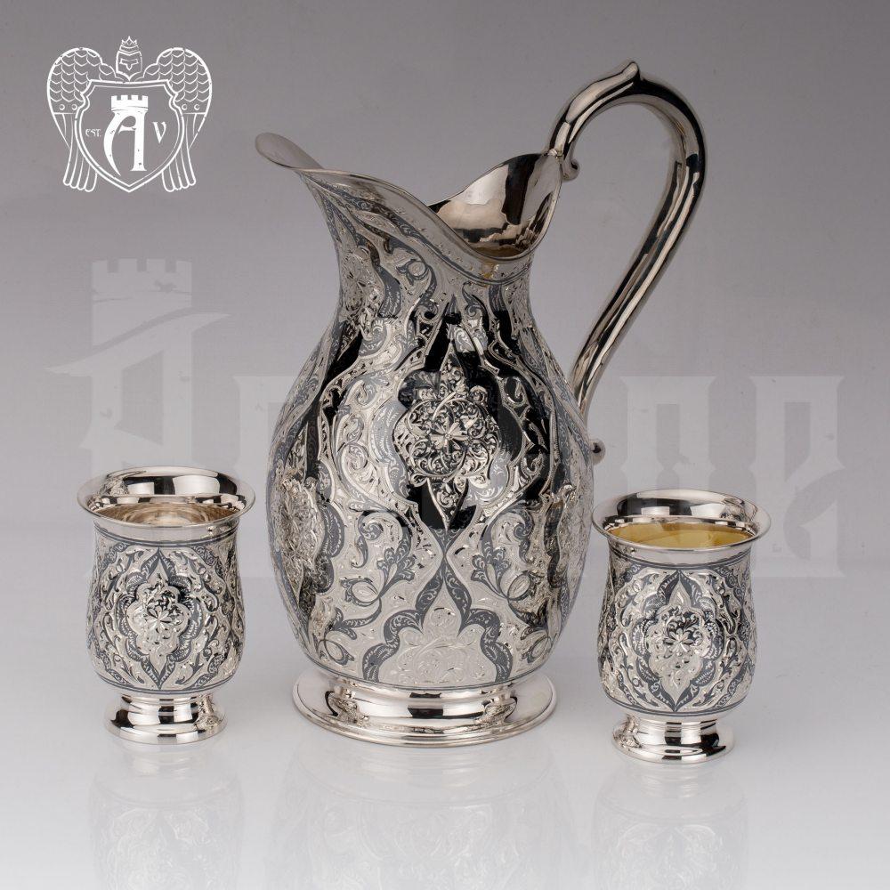 Сервиз из серебра 925 пробы «Камелия» для воды и напитков  Апанде, 1110006164