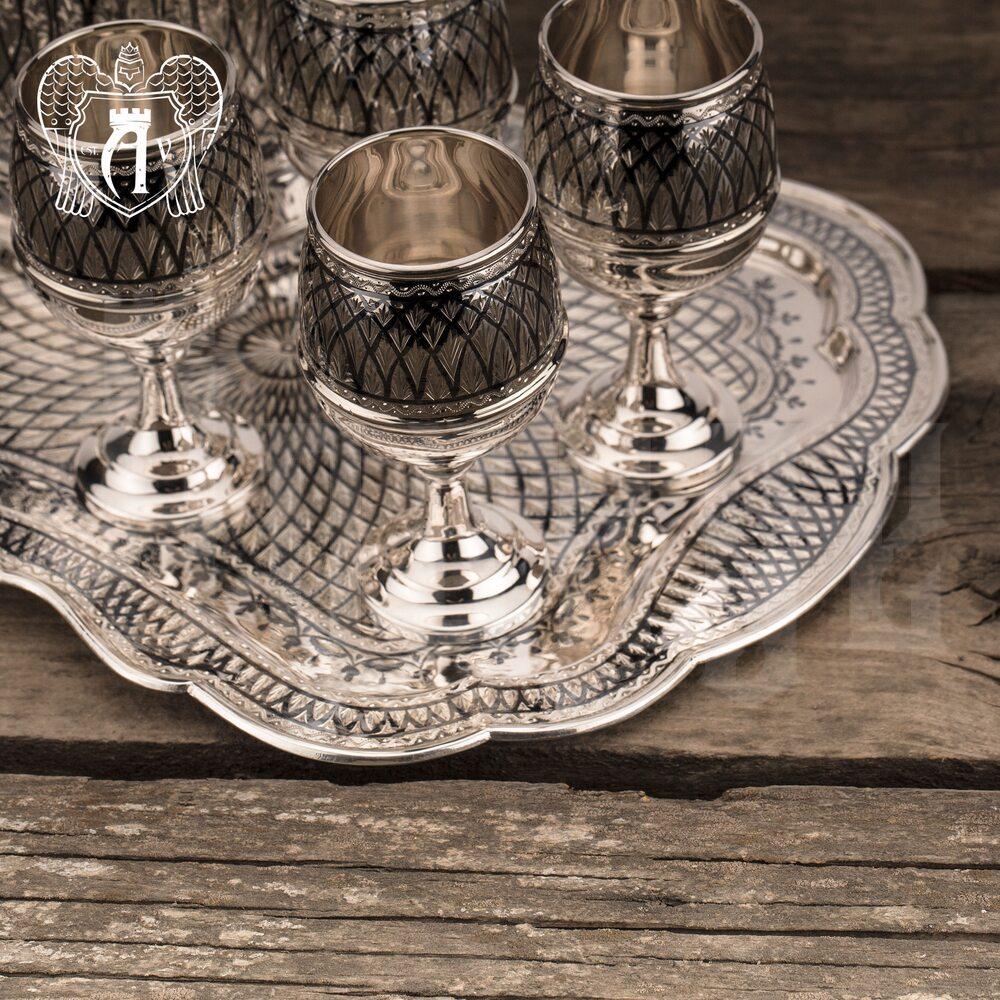 Серебряный сервиз для крепких напитков  «Лондон»  Апанде, 11100556
