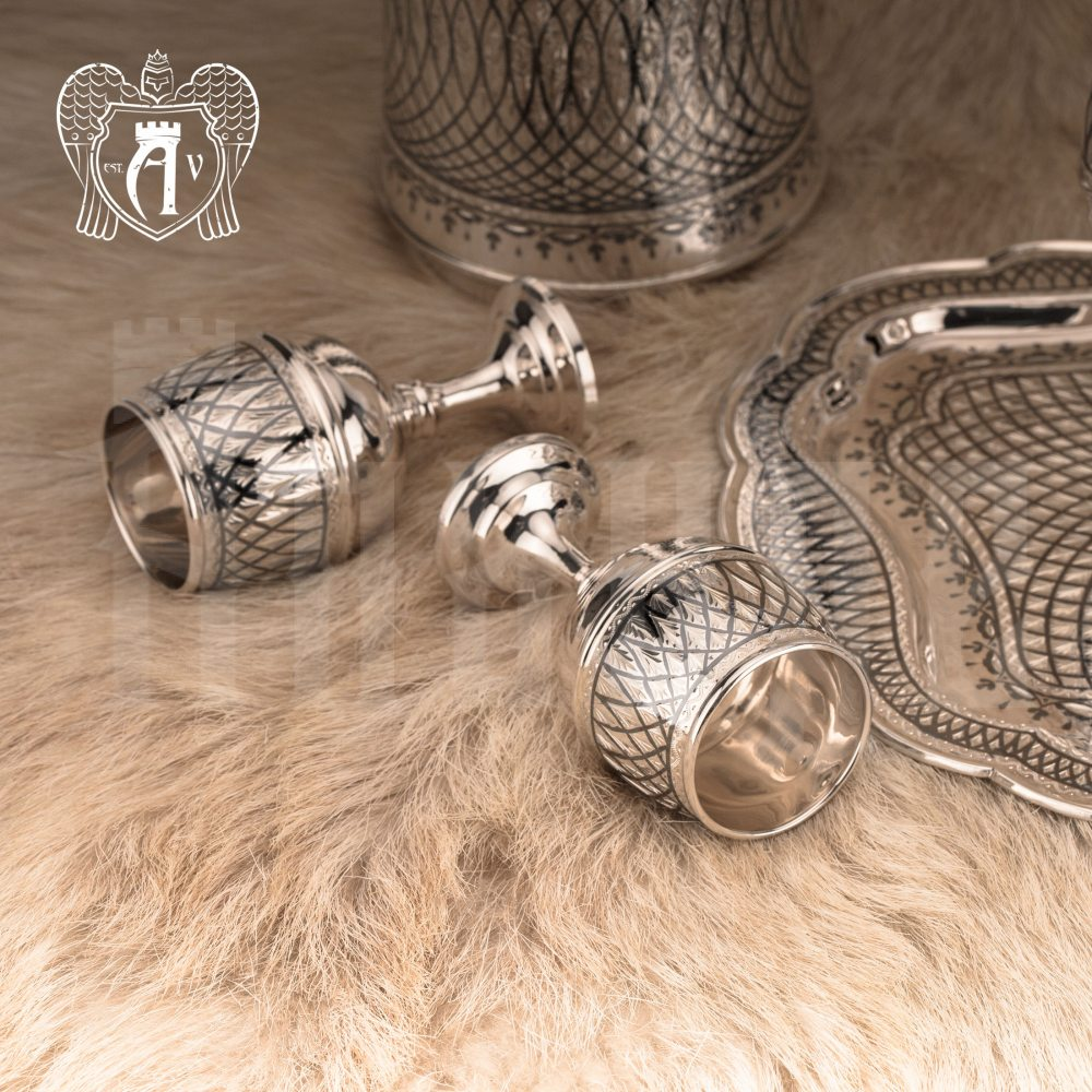 Серебряные рюмки «Лондон»  Апанде, 3800420