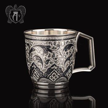 Кружка из серебра для напитков  «Клер»
