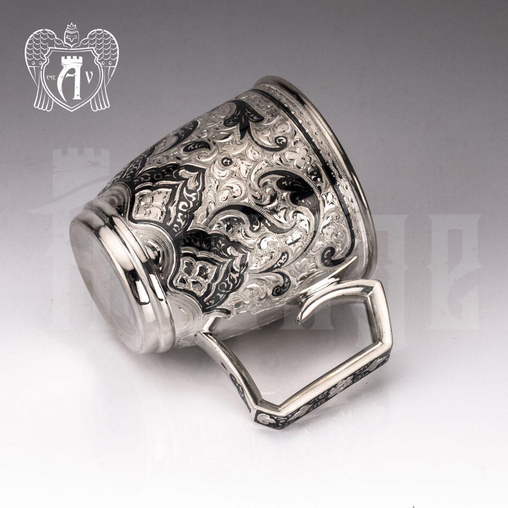 Кружка из серебра для напитков  «Клер» Апанде, 32009146