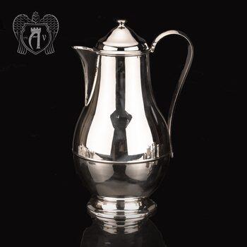 Большой кувшин для напитков из серебра «Глянец»