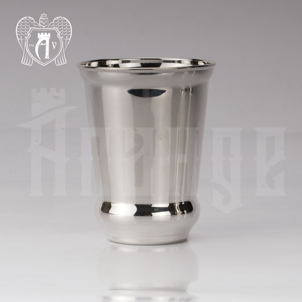 Серебряный стакан «Здоровье» + без крышки из чистого серебра 999 пробы Апанде, 71000502