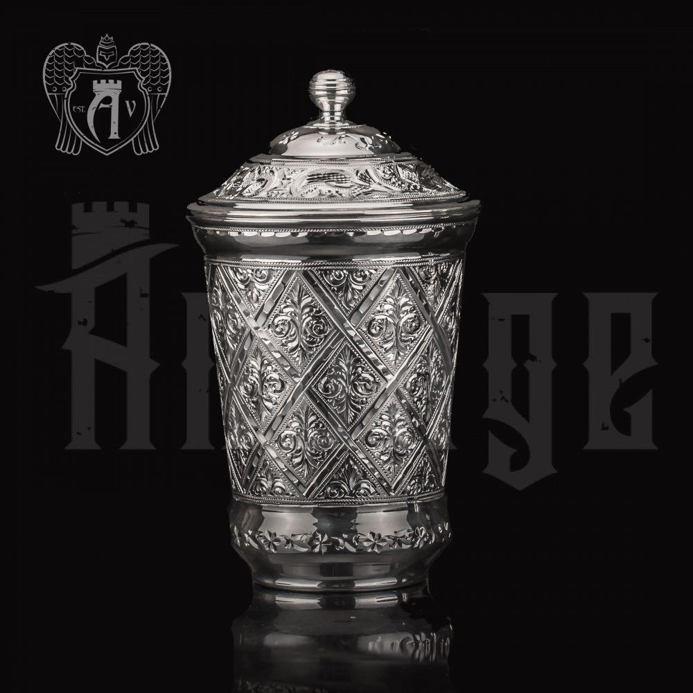 Серебряный стакан «Сапфир» из чистого серебра 999 пробы Апанде, 71000506