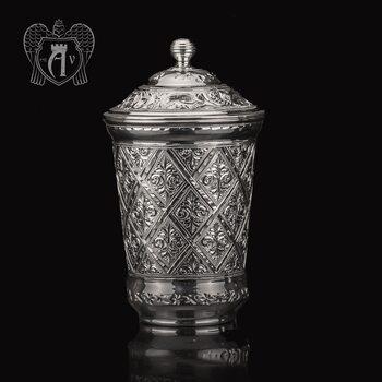 Серебряный стакан «Сапфир» из чистого серебра 999 пробы