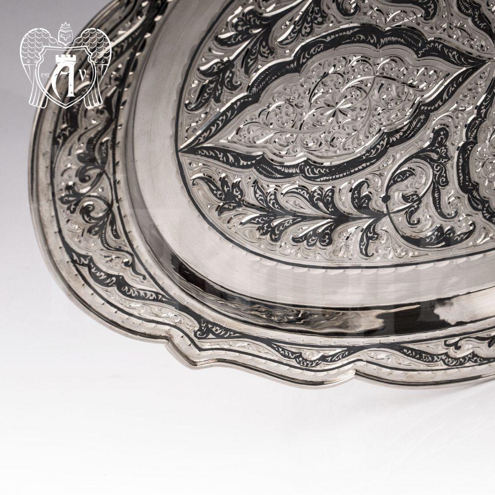 "Большой поднос из серебра ""Шамхан"" Апанде, 7700024"