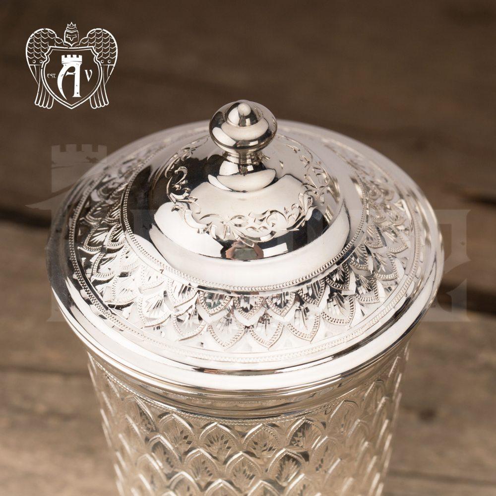 Серебряный стакан «Аквамарин» из чистого серебра 999 пробы Апанде, 71000507