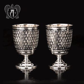 Бокалы из серебра «Лорд» 2 шт