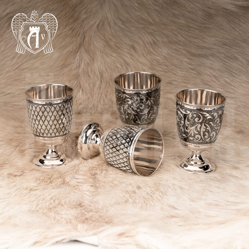 Бокалы из  серебра  «Клио» 2 шт Апанде, 71000470
