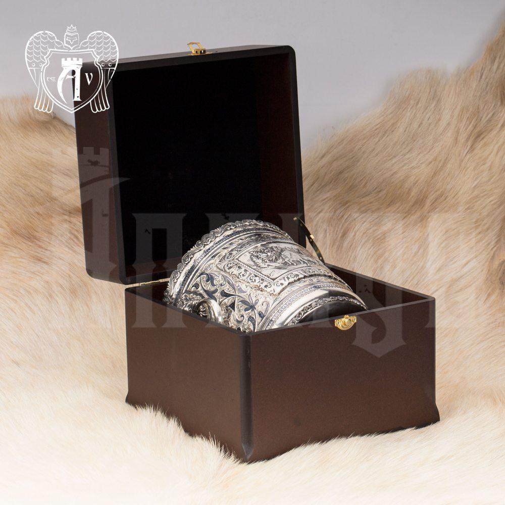 Ведро для шампанского из серебра «Тройка» Апанде, 9190022