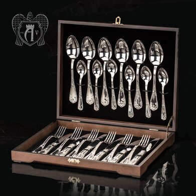 Набор столового серебра  «Маркиза» 24 предмета