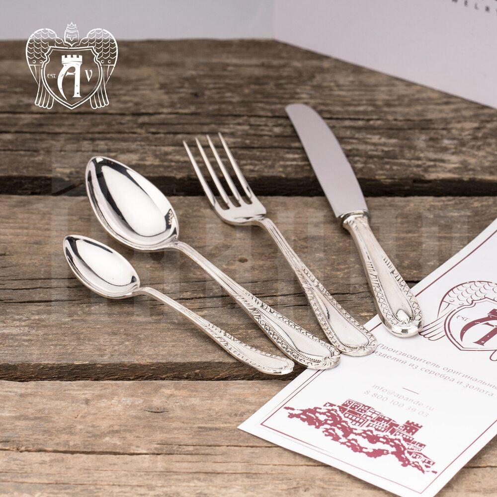 Набор столового серебра 875 пробы «Фамильный» 24 предмета, 22000224