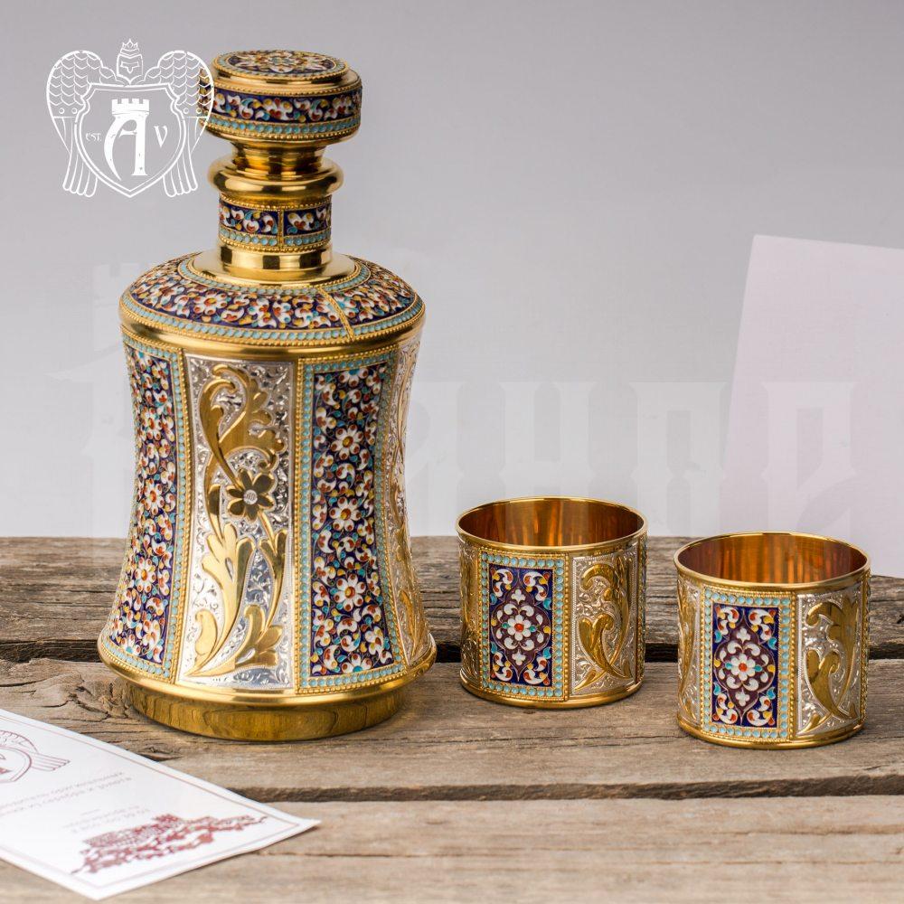 Серебряный сервиз для виски с эмалью «Наполеон» Апанде, 111049240